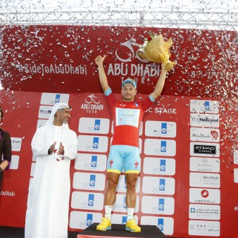 Abu Dhabi Tour 2015 - 1a tappa Qasr al Sarab - Madinat Zayed 174 km - 08/10/2015 - Andrea Guardini (Astana) - foto Roberto Bettini/BettiniPhoto©2015